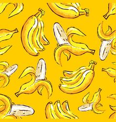 banana tropics seamless pattern hand-drawn vector image