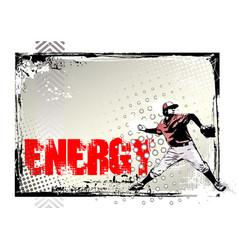Baseball poster background vector