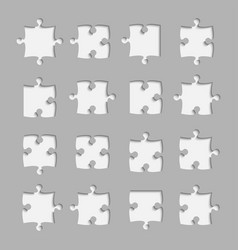 Black piece puzzle jigsaw object vector