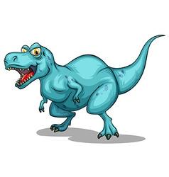 Blue dinosaur with sharp teeth vector