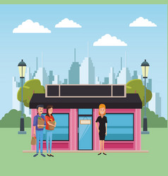 boutique business cartoons vector image