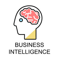 business intelligence icons for business flat vector image