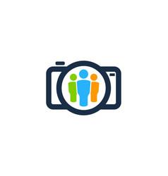 camera people logo icon design vector image