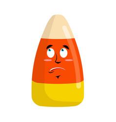 candy corns surprised emoji sweet emotion vector image vector image