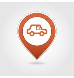 Car map pin icon vector image
