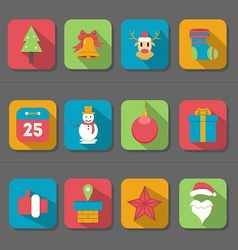 Christmas Flat Design Icon vector image