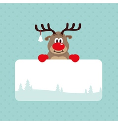Christmas Rudolph Rednosed Reindeer Card vector