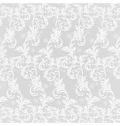 Classic damask floral ornament vector image