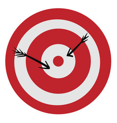 Clipart a red-colored bullseye or color vector