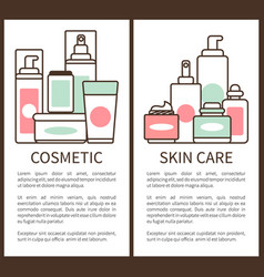 cosmetic and skin care poster vector image