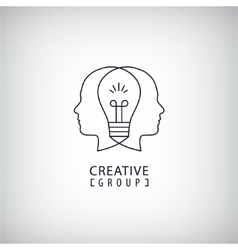Creative mind logo group vector