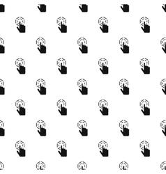 Cursor hand clicks pattern simple style vector