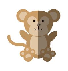 cute monkey or stuffed animal icon image vector image