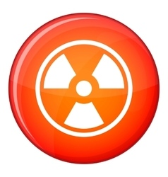 Danger nuclear icon flat style vector