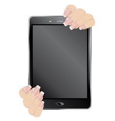 digital tablet in hands vector image