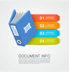 Document info art tape color vector
