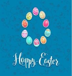 Easter festive card vector