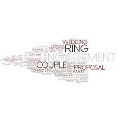 engagement word cloud concept vector image