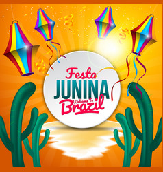 Festa junina background with element and more vector