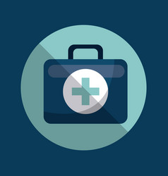 first aid briefcase icon vector image
