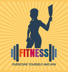 fitness competition emblem vector image