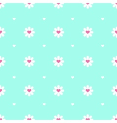 Flat minimalistic camomile seamless pattern vector