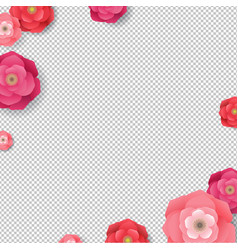 flowers frame isolated vector image