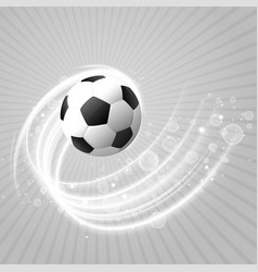 football background with white light trail and vector image