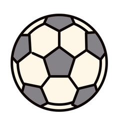 Football ball equipment sport line and fill icon vector