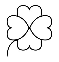 four leaf clover thin line icon shamrock vector image