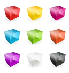 Glass cubes vector