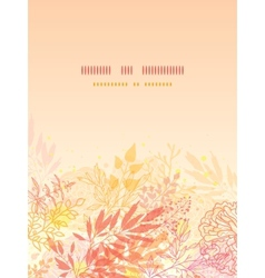 Glowing fall plants vertical card background vector