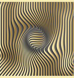 Gold abstract stripe pattern backgroundoptical vector