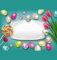 greeting card easter composition vector image