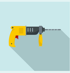 hammer drill icon flat style vector image