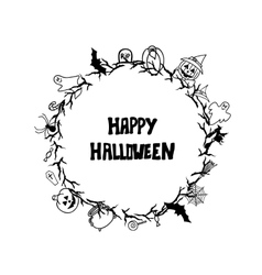 Happy halloween vintage card templates vector image