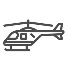 Helicopter line icon air transport symbol copter vector