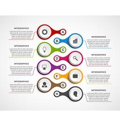 Infographics design template Timeline concept vector image