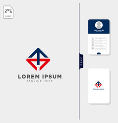 initial ccmch logo template free business card vector image