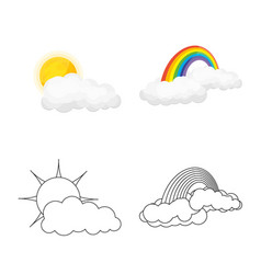 Isolated object of weather and climate icon vector