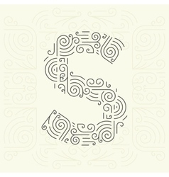 Letter S Golden Monogram Design element vector image