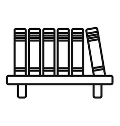 Library book shelf icon outline style vector