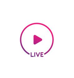 Live stream icon ui element vector