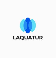logo aqua color mascot style vector image