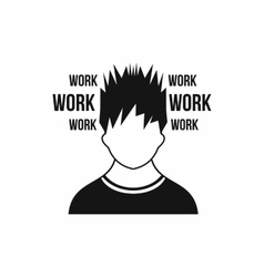 Man and work words icon simple style vector