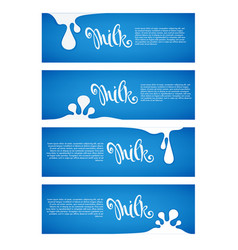 milk and dairy product labels flyers banners vector image