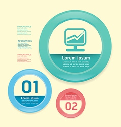 Modern Design circle soft colour template vector