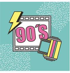 Movie cinema 90s retro festival vector