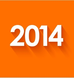 New year 2014 on orange background vector image