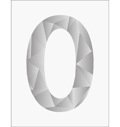 Number zero on a white background vector